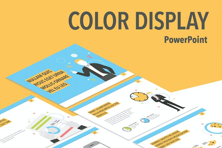 Thumbnail for Color Display PowerPoint Template
