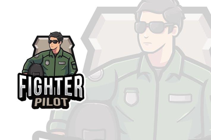 Thumbnail for Fighter Pilot Logo Template
