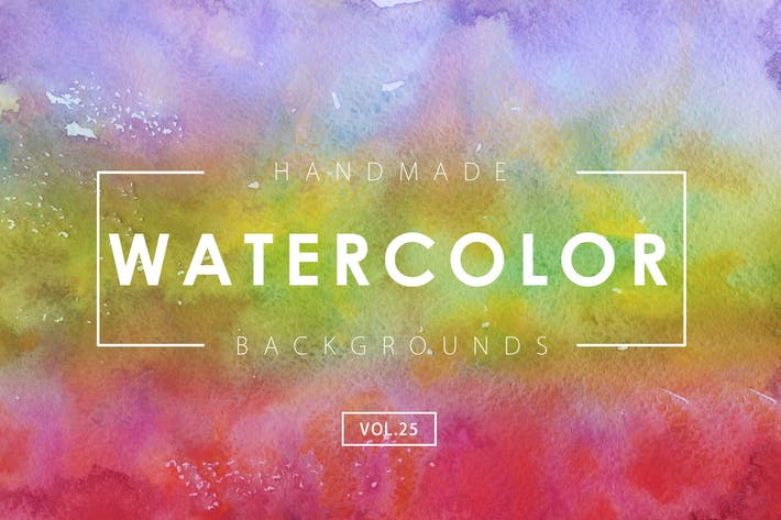 Cover Image For Handmade Watercolor Backgrounds Vol.25