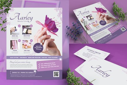 Beauty Care Flyer + Business Card