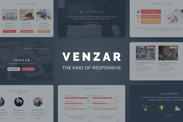 Thumbnail for Venzar Responsive Clean Email Template