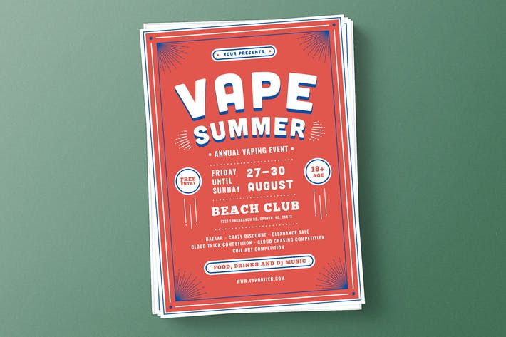 Thumbnail for Vape Summer Flyer