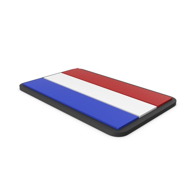 Flag of Netherlands PVC Patch