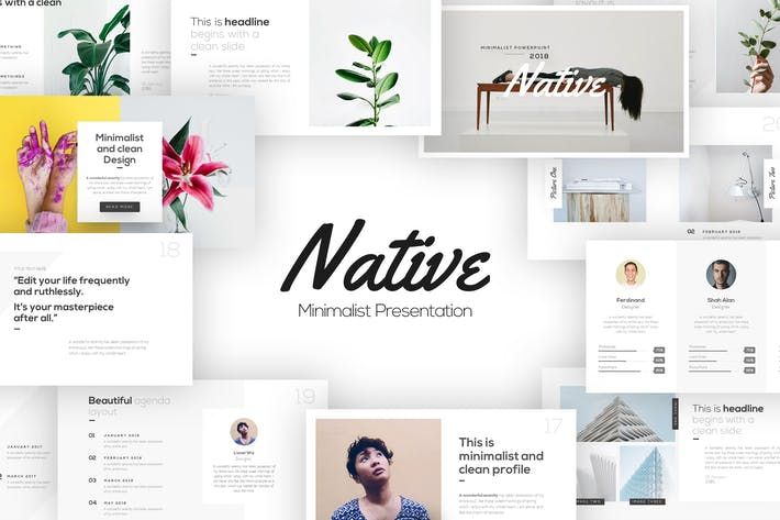 Native Minimalist Powerpoint Template By Brandearth On Envato Elements
