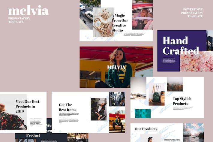 Thumbnail for MELVIA - Творческий Шаблон слайдов Google