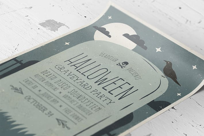 Thumbnail for Halloween Graveyard Party Flyer