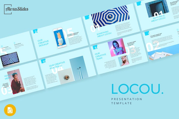 Thumbnail for Locou - Мода Google Слайды Шаблон