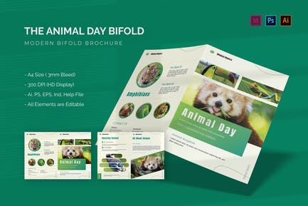 Animal Day - Bifold Brochure