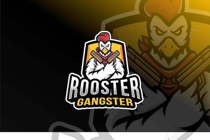 Cover Image For Rooster Gangster Esport Logo Template