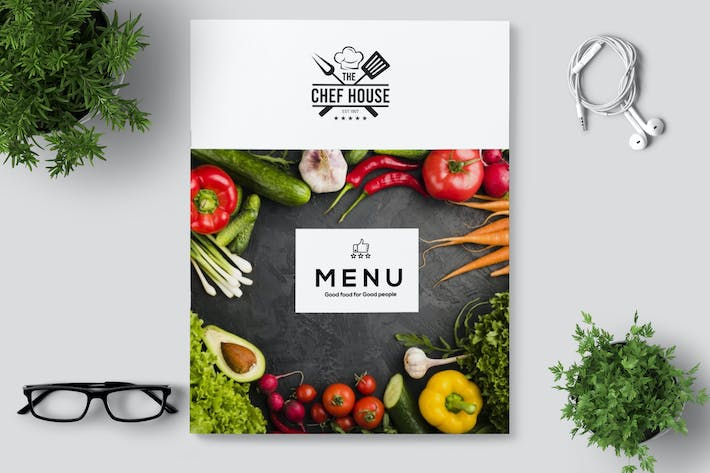 Thumbnail for Minimal Restaurant Cafe Menu / Flyer