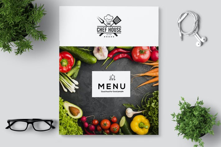 Thumbnail for Minimal Restaurant Café-Menü/Flyer