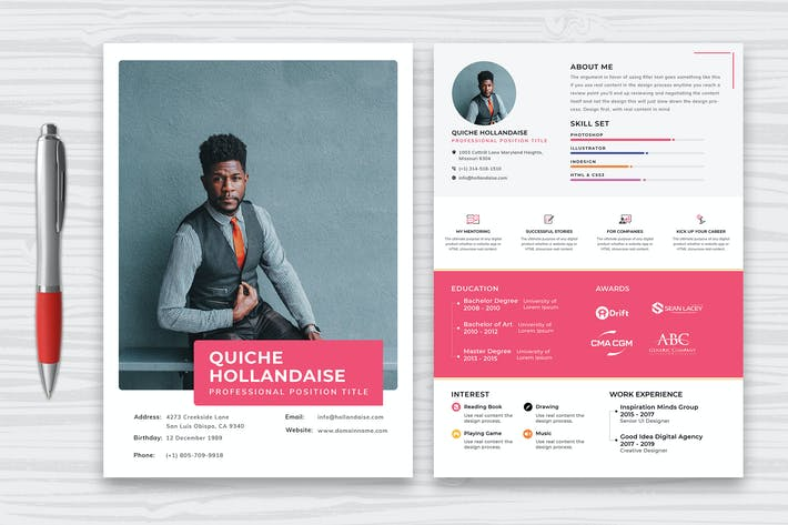 Thumbnail for Professional Resume CV Template-26