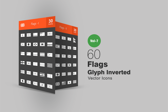 Thumbnail for 60 Flags Glyph Inverted Icons