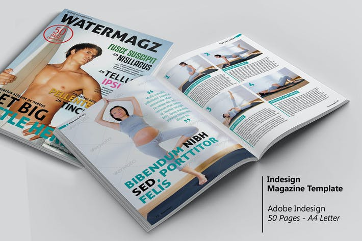 Thumbnail for Watermagz - InDesign Magazine Template