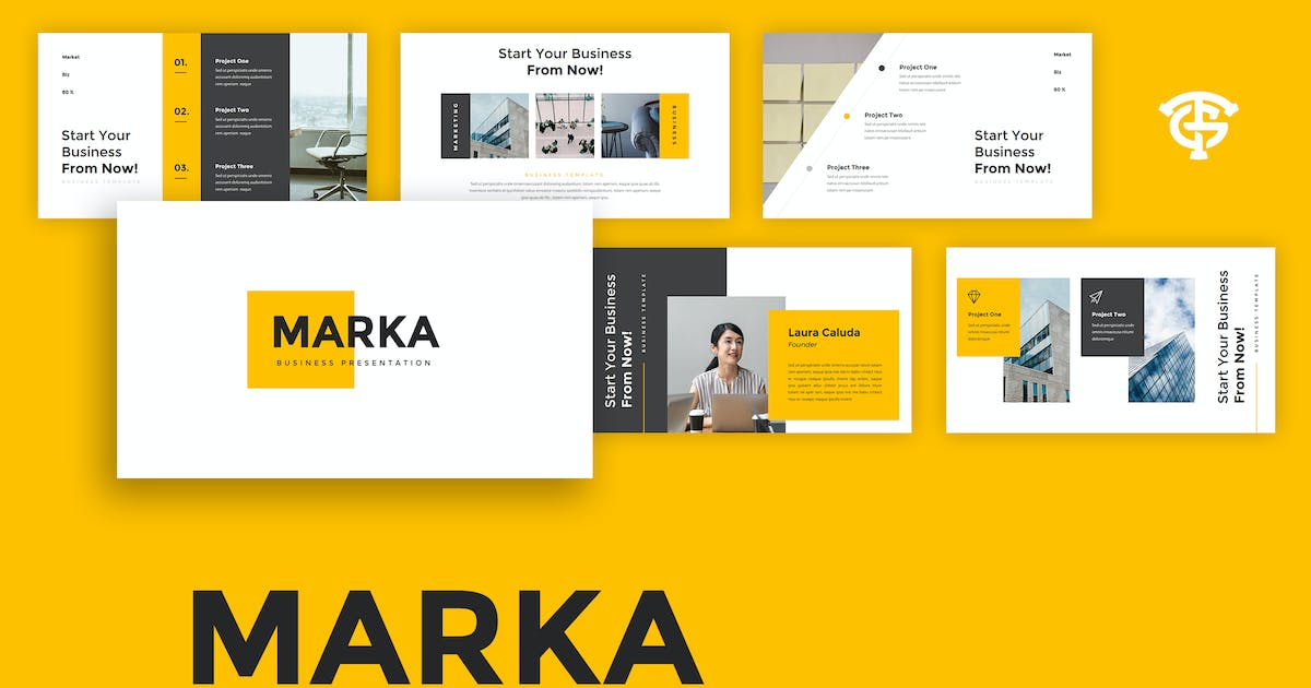 Download Marka Business - Powerpoint by graptailtype