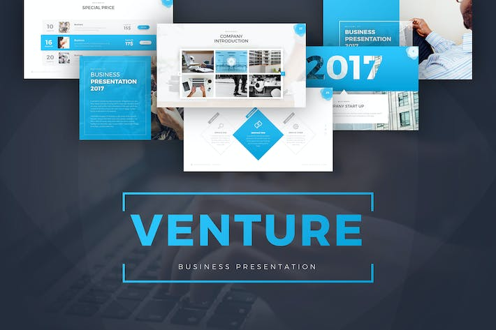 Cover Image For Venture Business Presentation