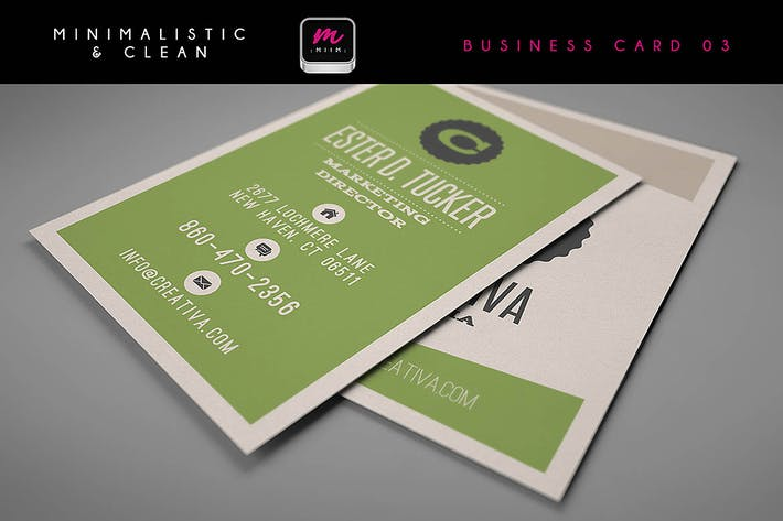 Thumbnail for Clean Business Card Template 03