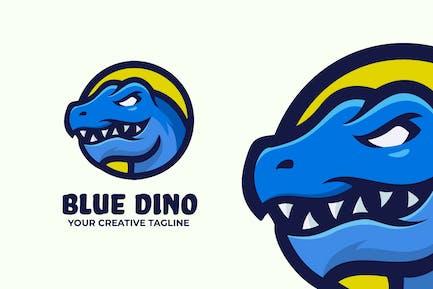 Blue Dinosaur Logo Mascot Template