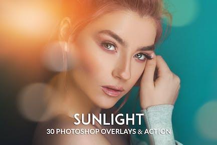 Realistic Sunlight Overlay Photoshop Action