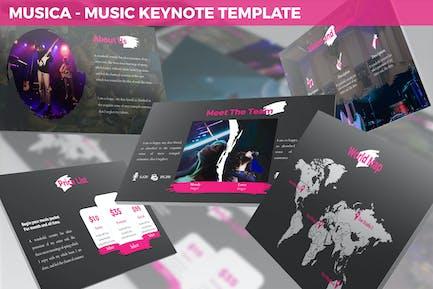 Musica - Шаблон Keynote для развлечений