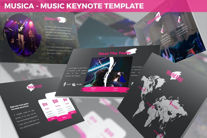 Thumbnail for Musica - Entertainment Keynote Template