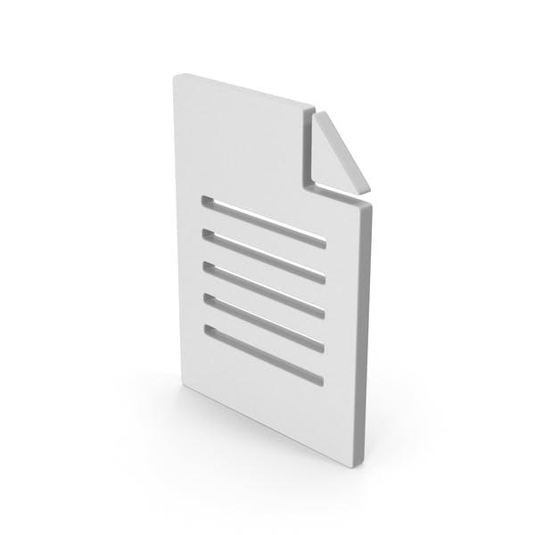 Символ офисной бумаги
