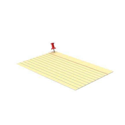 Yellow Index Card And Push Pin