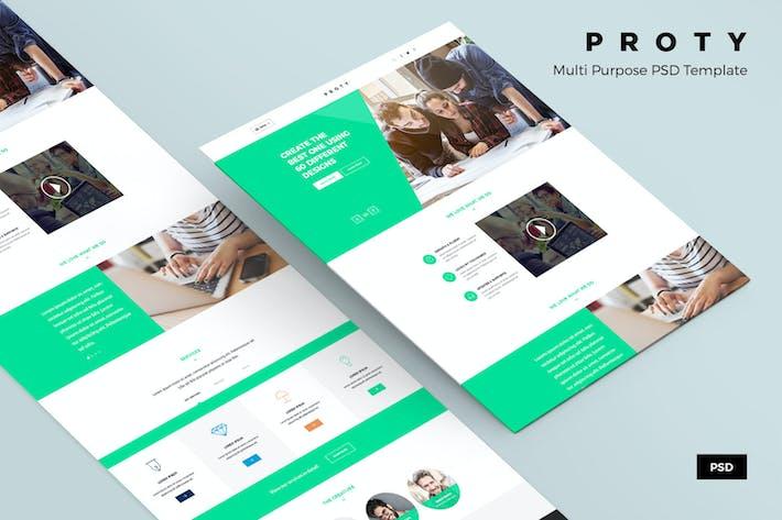 Thumbnail for Proty – Multipurpose PSD Website Template