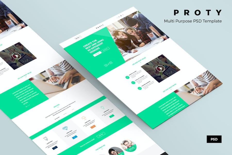 Proty – Multipurpose PSD Website Template