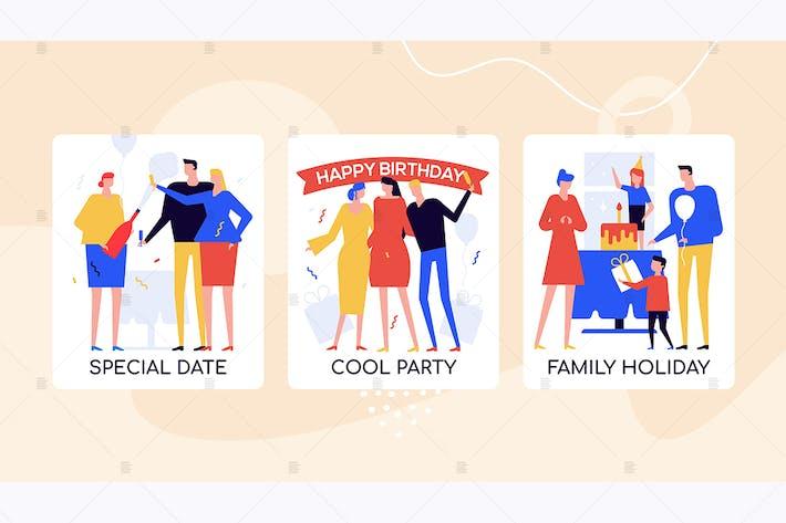 Thumbnail for Событие Агентство предлагает красочные баннеры