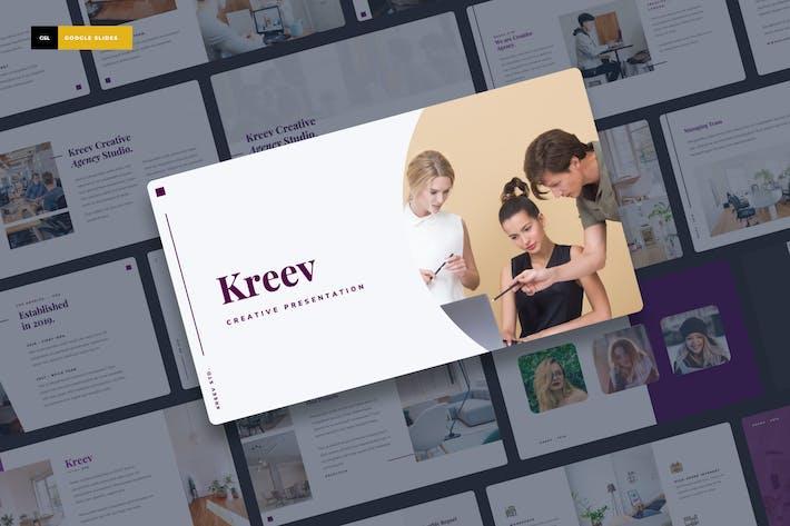 Thumbnail for Kreev - Creative Google Слайды Презентация