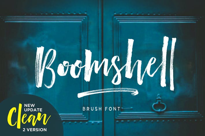 Thumbnail for Boomshell Brush Font
