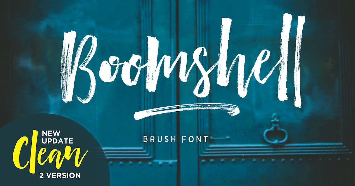 Download Boomshell Brush Font by dhanstudio