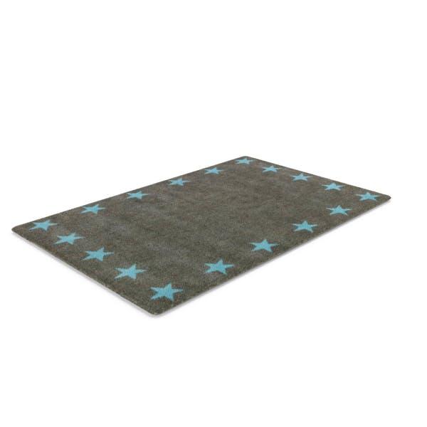 Teppich Grau mit Sternen