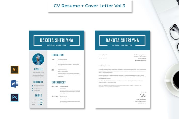 Thumbnail for CV Resume Vol.3