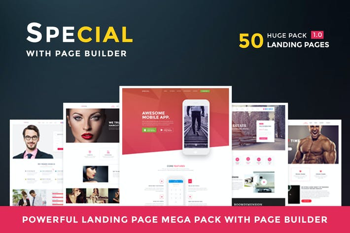 Thumbnail for Special - Landing Page HTML Pack