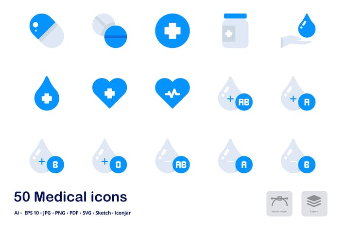 Thumbnail for Medical and Healthcare Accent Duo Tone Icons