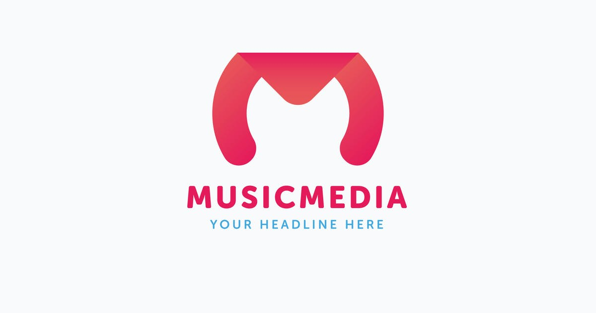 Download Music Media Logo M Letter Template by Unknow