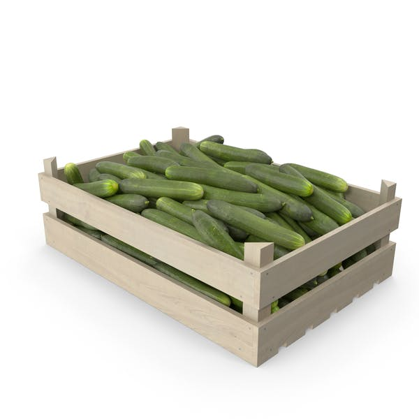 Thumbnail for Cucumbers in Wooden Crate