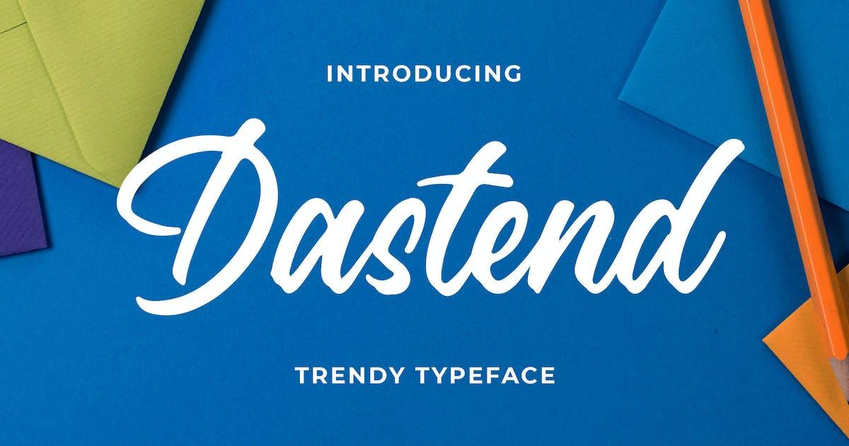 Download Dastend - Trendy Script Typeface by Blankids