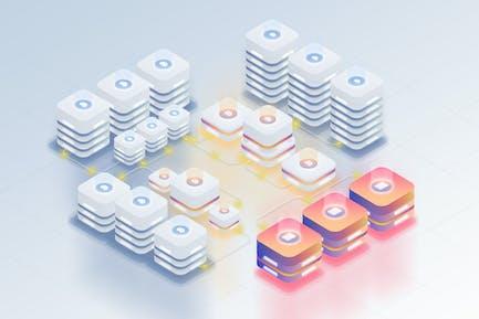 Isometric Server Concept