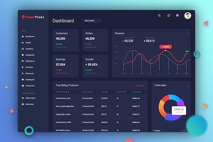 Dashboard UI Concept - Dark Theme