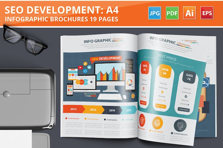 Thumbnail for SEO Development Infographic Design 19 Pages