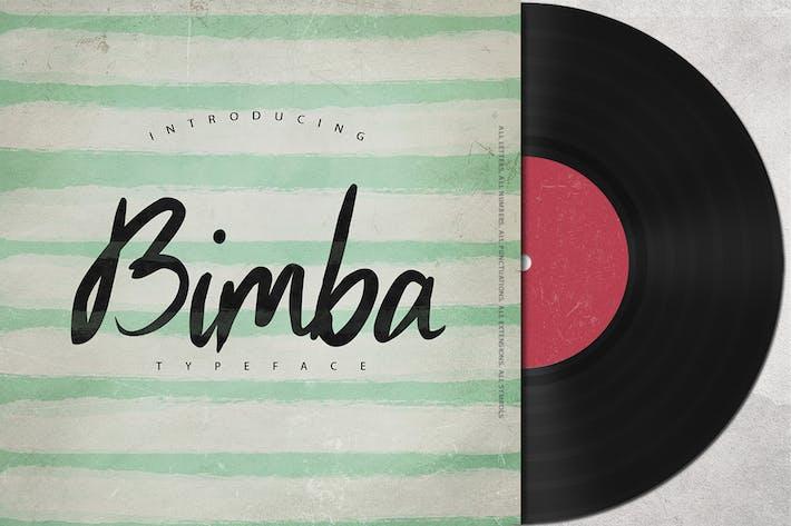 Thumbnail for Bimba Script Typeface