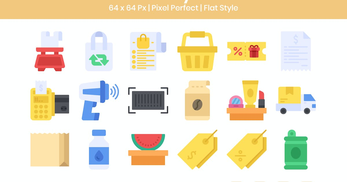 Download 20 Grocery  Icons Set - Flat by kmgdesignid