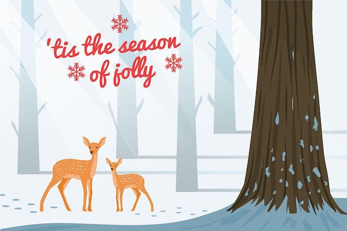 Thumbnail for Deer - Vector Illustration