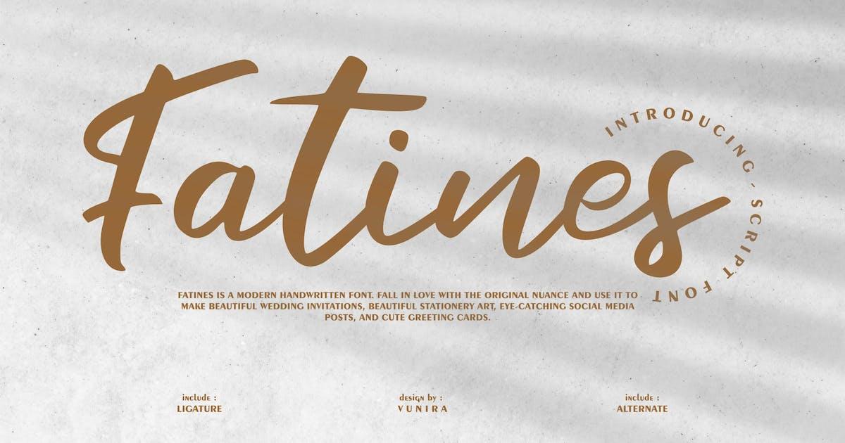 Download Fatines   Modern Handwritten Font by Vunira