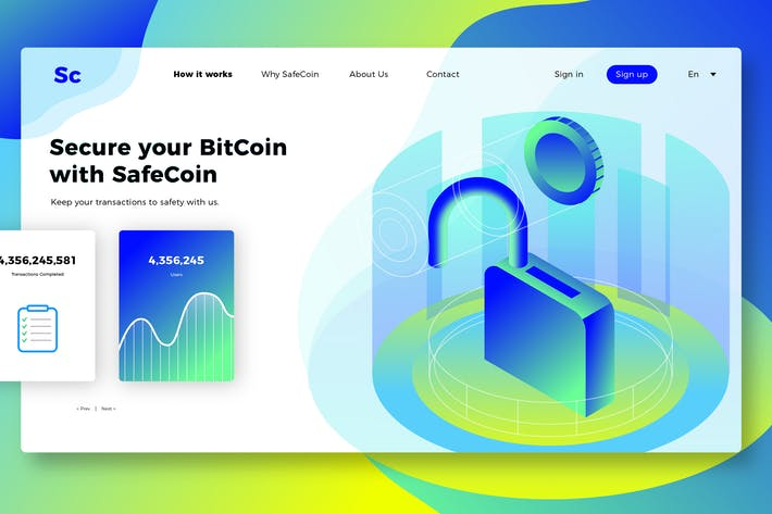 Thumbnail for SafeCoin - Banner & Landing Page