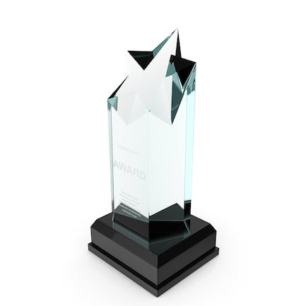 Towering Star Glass Award Trophy