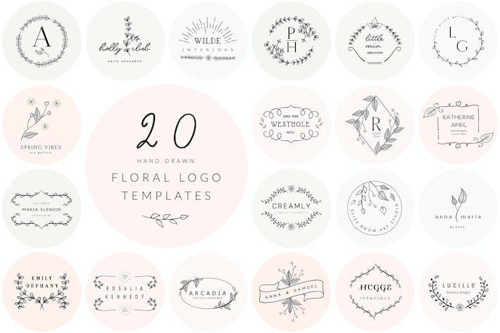 Thumbnail for 20 Floral Logo Templates
